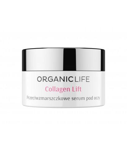 Przeciwzmarszczkowe serum pod oczy Collagen Lift Organic life 15g