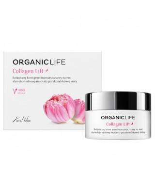 Botaniczny krem przeciwzmarszczkowy na noc Collagen Lift Organic life 50g