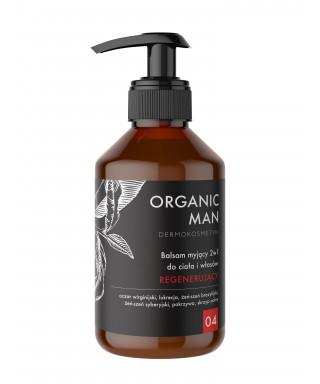 Balsam myjący dociała i włosów 2w1 regenerujący Organ Man Organic life 250g
