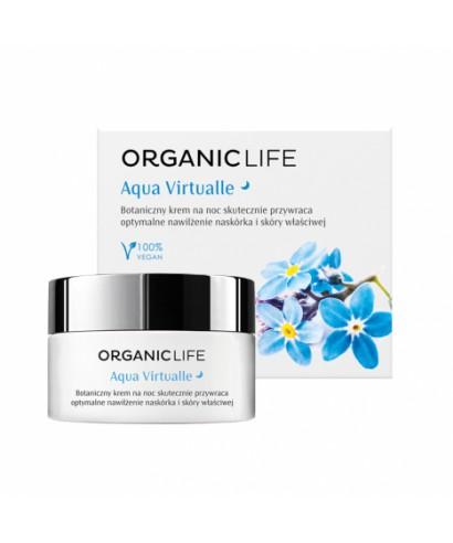 Botaniczny krem na noc nawilżający Aqua Virtualle Organic life 50g
